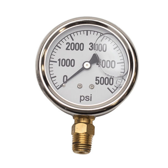 "Picture of 2.5"" Pressure Gauge Glycerin 5000 PSI"