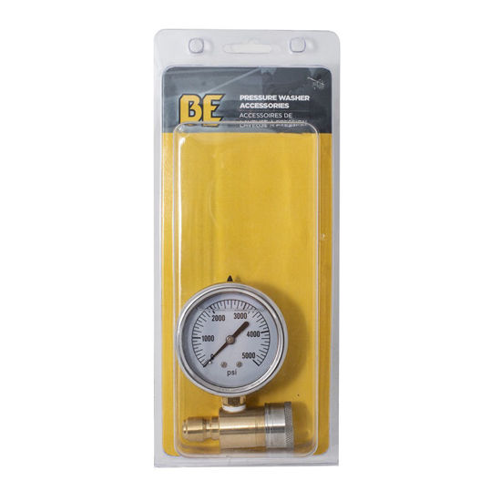"Picture of 2.5"" Pressure Gauge Glycerin Quick Connect 5000 PSI"