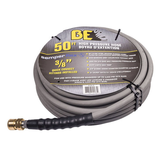 "Picture of 4000 PSI Non Marking High Pressure Hose 50ft, 3/8"" Quick Connects"