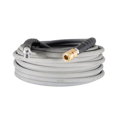 "Picture of 100ft 4000 PSI Non Marking Hose, 3/8"" Brass Quick Connects"