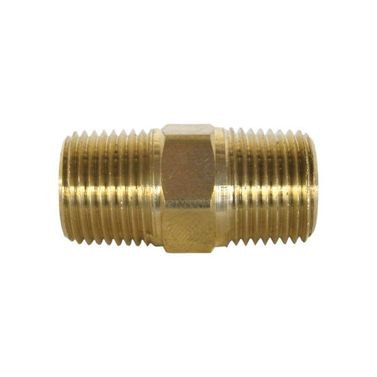 "Picture of Hex Nipple, 1/4"" MNPT X 1/4"" FNPT"