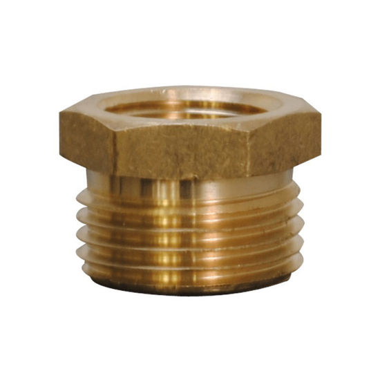 """Picture of Be Pressure 85.300.130 Garden Hose Adapter, 1/2"""" fnpt X 3/4"""" mght"""